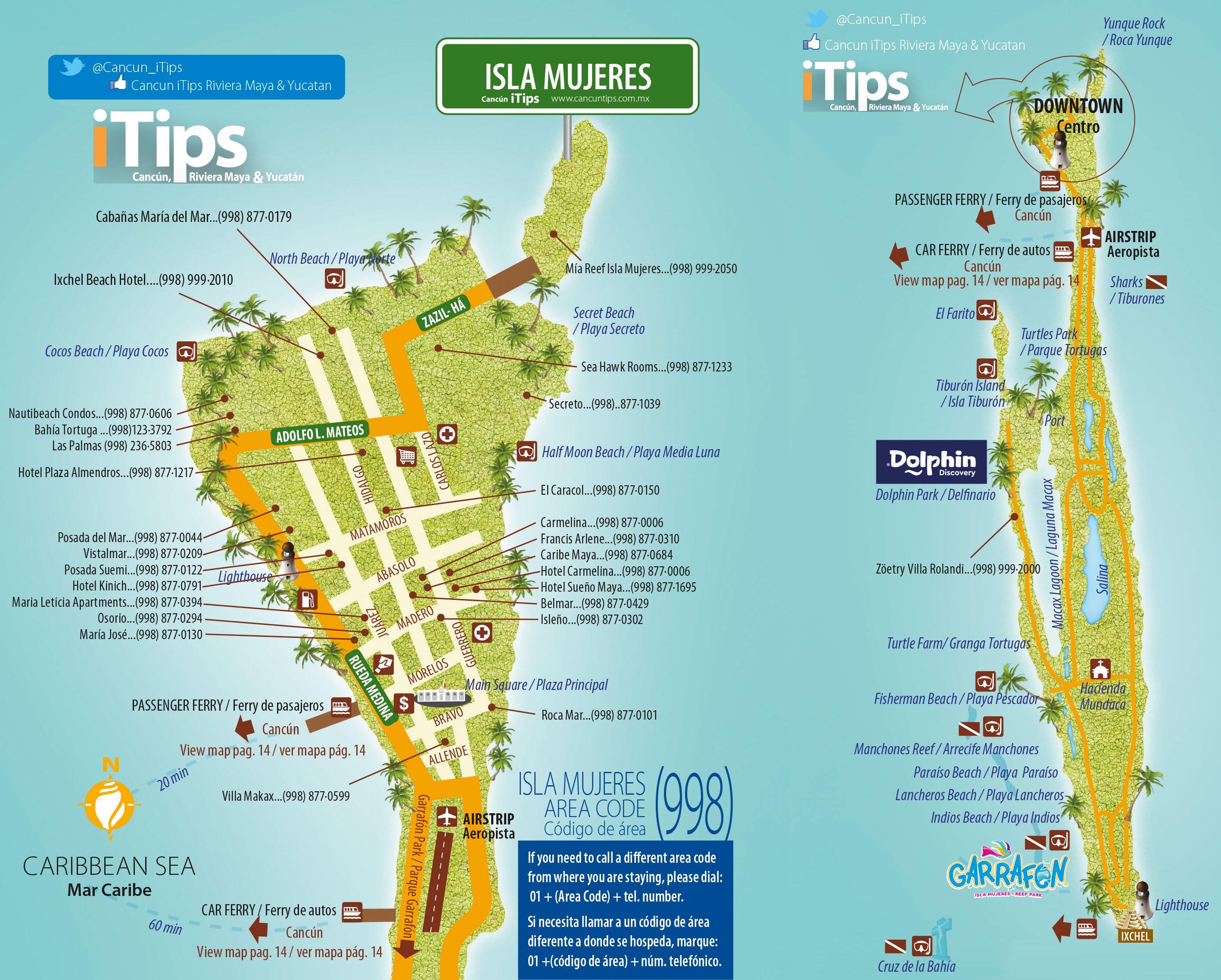 Isla Mujeres Map Cancun Tips