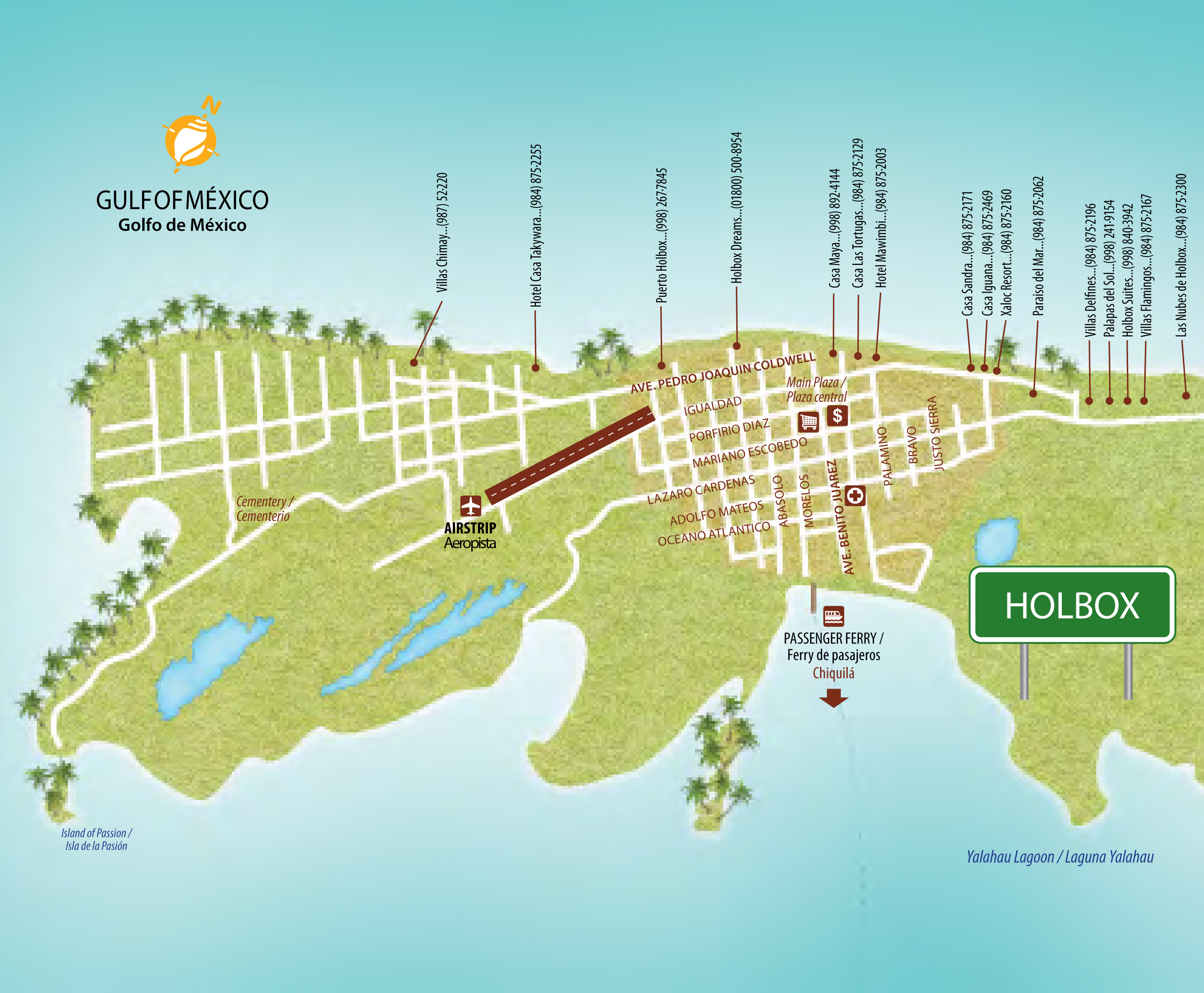 Holbox Island Mexico Map