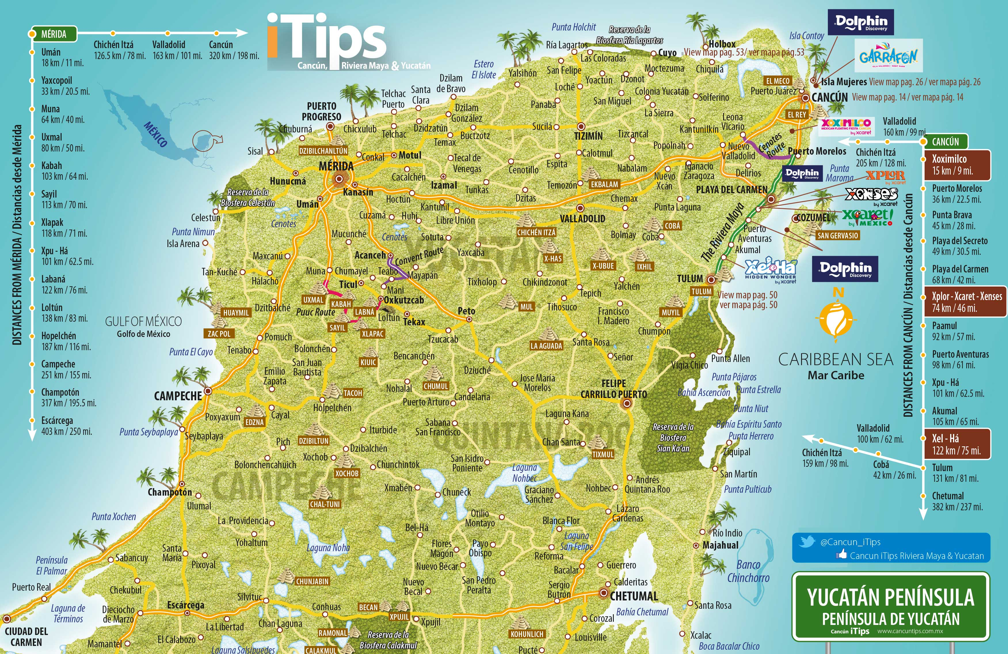 yucatan map  cancun tips - yucatan map